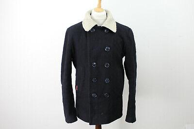 SUPERDRY Black Pea Coat size XL