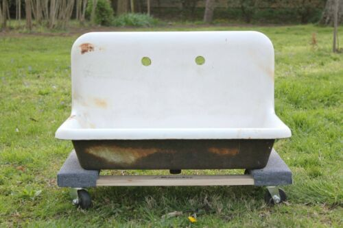 antique kitchen sink porcelain | standard victorian laundry utility sink vtg