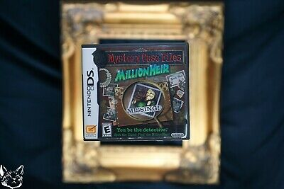 Mystery Case Files MillionHeir [Nintendo DS GAME+BOX+MANUAL Millionaire Puzzle
