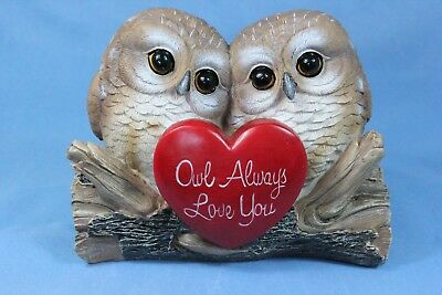 Owl Statue Owl Couple in Love Owl Always Love You Statue New - Owl Always Love You