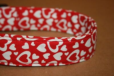 Red & White Hearts Valentine Dog & Cat Collars & Martingales & -