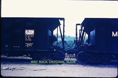 Original 1969 Slide - Muskingum Electric Railroad Coal Cars - Cumberland, OH