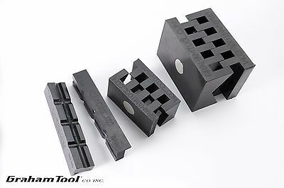 Bench And Milling Machine Vise V-blocks Set Of 3 Used On Wilton And Kurt Vises