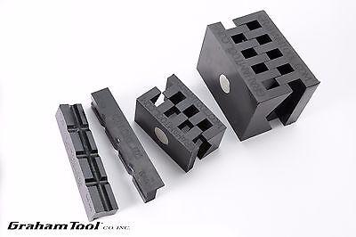 Bench And Milling Machine Vise V-blocks Set Of 3 Used On Wilton And Kurt Vises