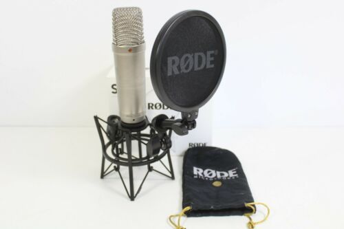 Rode NT1-A Condenser Microphone with Rode SM6 Shock Mount with Pop Filter