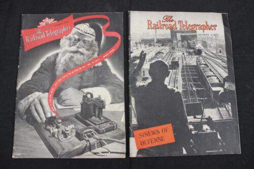 VINTAGE 1948 & 1950 THE RAILROAD TELEGRAPHER MAGAZINES - SANTA CLAUS