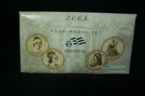 2008 First Spouse Bronze Medal Series 4 Medal Set - US Mint