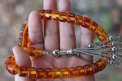 Bakelite Amber Imitation Prayer Chain Tesbih Islam Quran Bønneperler