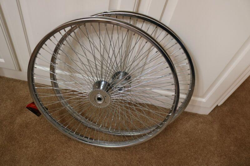 "LOW RIDER LOWRIDER BIKE tricycle 26/"" 72 Spoke Hollow-Hub Wheel 14G Chrome"