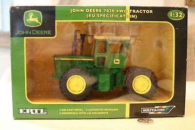 Britains Farm Diecast 1:32 Scale John Deere 7020 4WD Tractor European Boxed