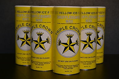 Photo TRIPLE CROWN TABLE SHUFFLEBOARD SLOW SPEED SAMPLER POWDER WAX 6 PACK