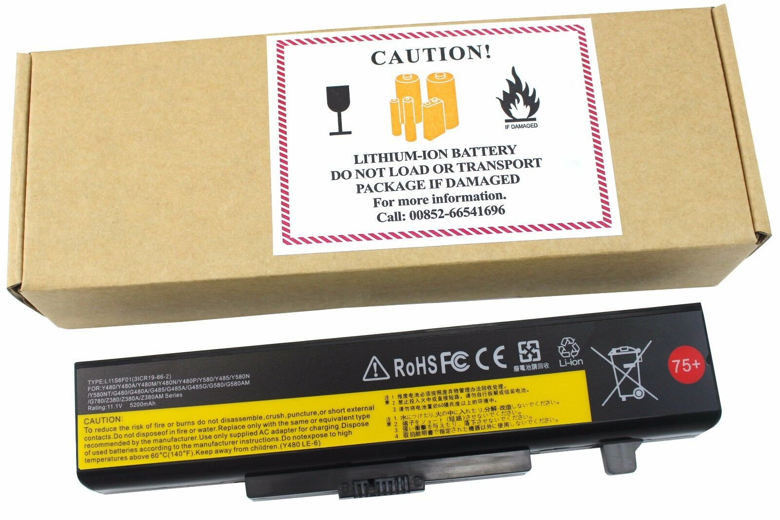 L11s6y01 Battery For Lenovo Ideapad Y480 Y580 G480 G580 Z...