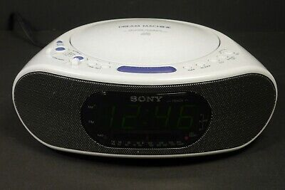 Sony Dream Machine ICF-CD837 Alarm Clock Radio CD Player CD-R RW Playback EUC
