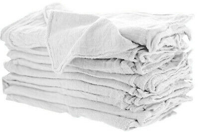 100 Industrial Shop Rags Cleaning Towels White