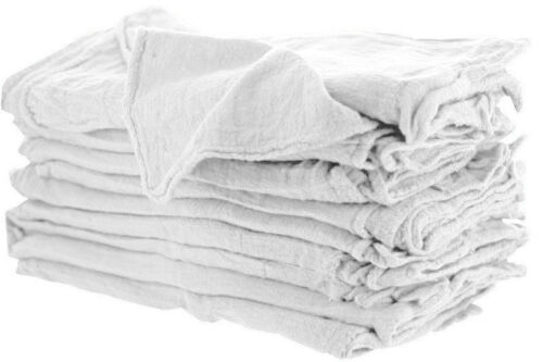 100 INDUSTRIAL SHOP RAGS / CLEANING TOWELS WHITE