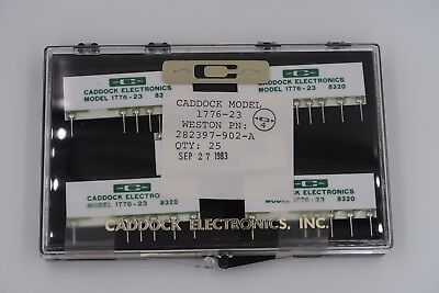 Lot Of 4 Caddock 1776-23 Precision Decade Resistor Voltage Dividers New