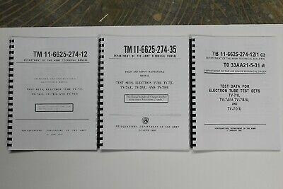 Usa Tv-7du Tester Tv-7 3 Manual Set Repair Cal. Operators Test Data