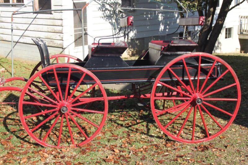 Horse Drawn Market Wagon Sleigh Carriage BuggyAntique Cart