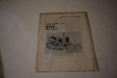 John Deere 6310 Bulldozer Predelivery Instructions