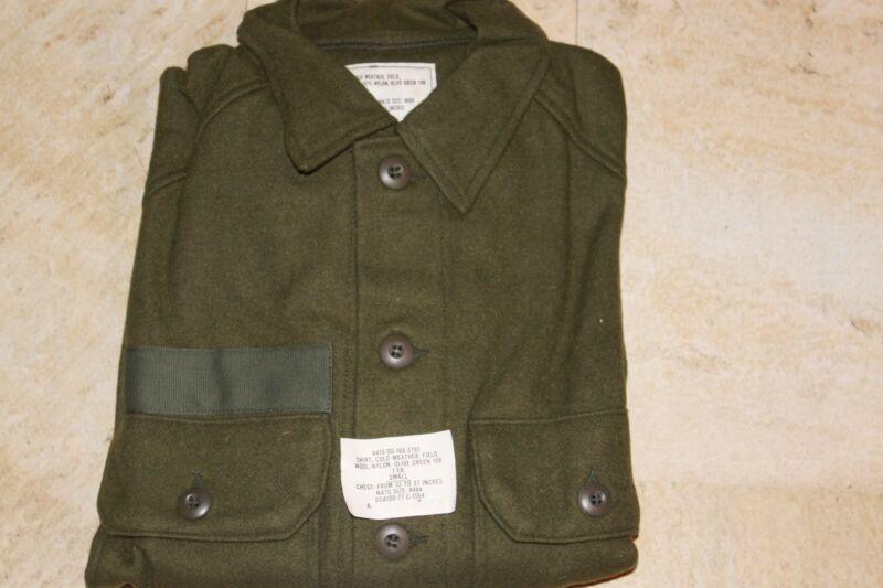 Military Surplus, Cold Weather Field Shirt, Wool, New, Size Small