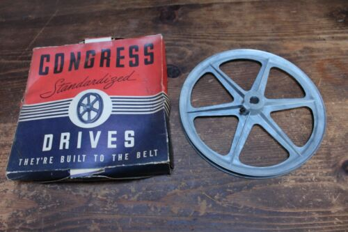 "Congress V-Grooved Pulley 10"" Diameter/ Type A/5/8"" Bore (A1000) In Original Box"