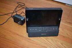 Used Sony Dream Machine ICF-CL75IP iPhone iPod AM FM Alarm Clock Radio 7 LCD