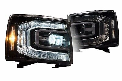 2007-2013 Chevy Silverado XB LED Morimoto Projector Headlights Headlamps L+R Set