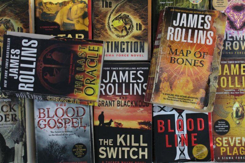 Lot of 10 James Rollins Mass Market Paperback Books MIX