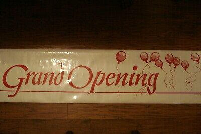 Huge And Clean 72 X 18 Grand Opening Store Vinyl Banner 1989 Balloons Sign
