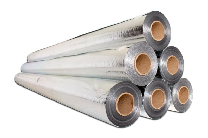 Reflective Foil Insulation Radiant Barrier (1000 Sq Ft Roll) Industrial Strength