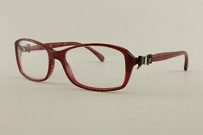 New Authentic Chanel Glasses 3211 1266 Red Tweed 53mm Bow Frames Eyeglasses (Chanel Bow Eyeglasses)