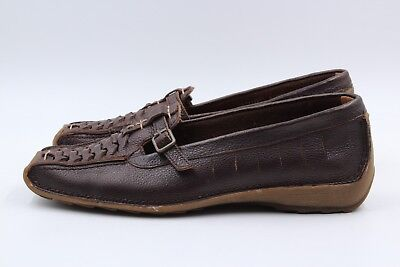 Gabor Jollys Damen Schuhe Slipper Größe 37 UK 4 Braun Leder Echtleder