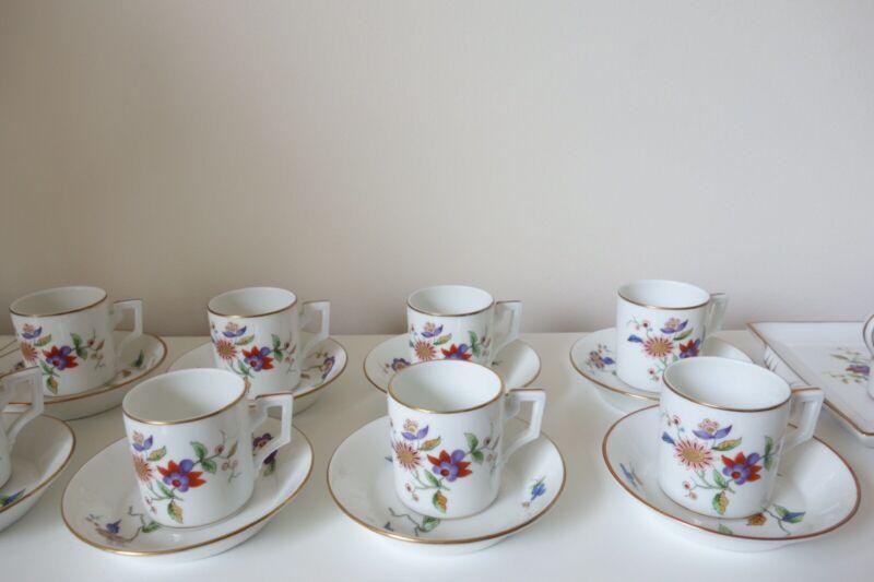 Richard Ginori Oriente Demitasse Set Of 10 With Tray Creamer And Sugar Bowl