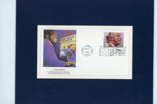 Big Band Leader & Jazz Musician Count Basie & First day Cover of his own stamp
