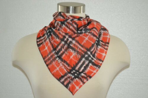 NWT BURBERRY GIRLS COTTON CHECK TRIANGLE SCARF BANDANA ITALY O/S
