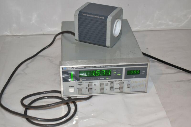 ILX FPM-8210 LIGHTWAVE FIBER OPTIC POWER METER (NU4)