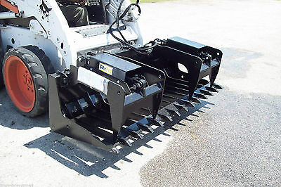 Skid Steer Root Grapple Hd 72 Widetines Spaced 5 12fits Bobcatcatcase