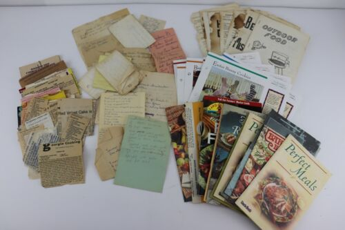Vintage Southern & More Recipes Handwritten Typed Newspaper Magazines 100+