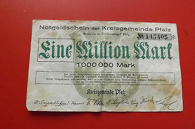 *Notgeldschein Kreisgemeinde Pfalz 1 Million Mark 1923(ORD 2)