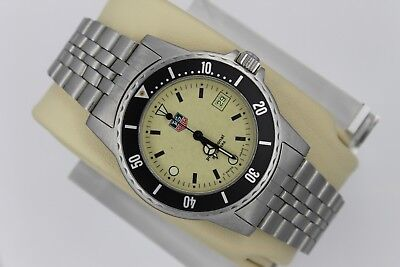 Tag Heuer 929.113 Night Diver Lume 1500 Professional SS Watch Mens Super Glow
