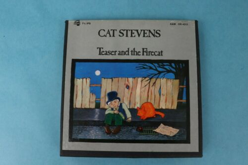 CAT STEVENS TEASER & THE FIRECAT 7 1/2 IPS REEL TO REEL TAPE A&M OR-4313 VG++