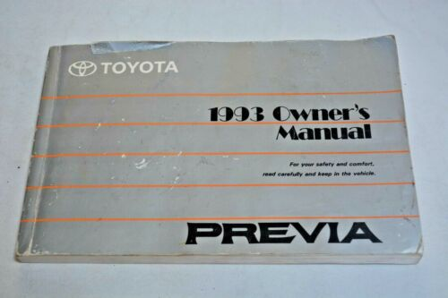 1993 TOYOTA PREVIA OWNERS MANUAL GUIDE BOOK OEM