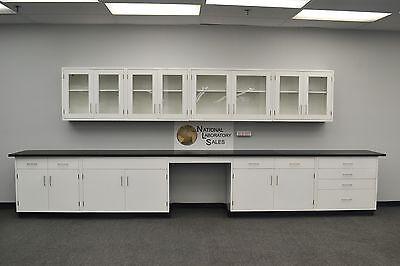 18 Base 13 Wall Cabinets Laboratory Furniture  Quick Ship E1-091