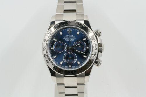 Rolex Cosmograph Daytona Model 116509 18k White Gold Watch Blue Dial -unused