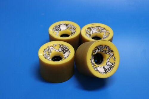 4 EA. Sector Nine (9) Skateboard wheels 78a 74mm Yellow longboard