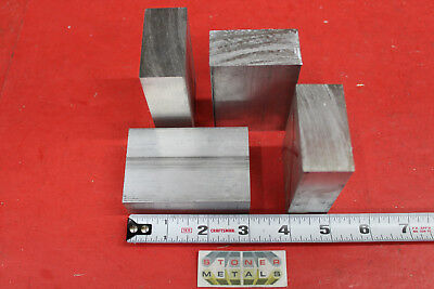 4 Pieces 1 X 2 Aluminum 6061 Flat Bar 3 Long Solid Extruded Plate Mill Stock