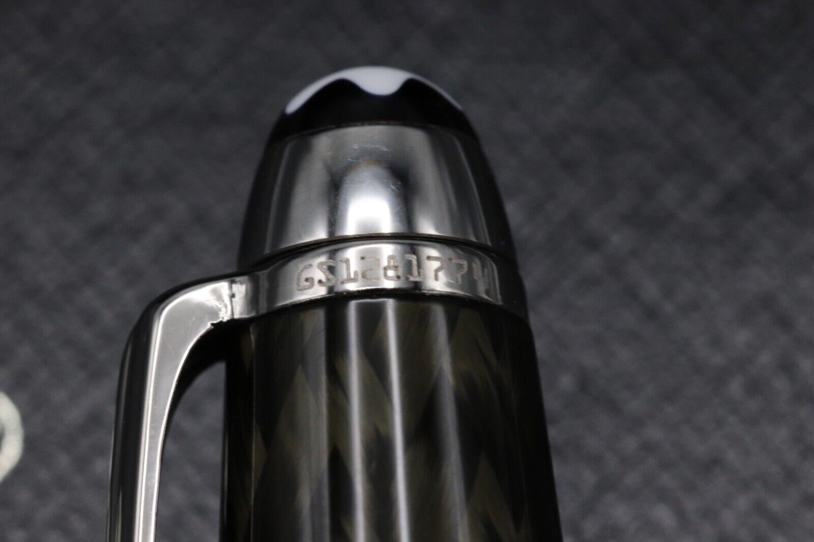 Montblanc Meisterstuck 144 Classique Carbon Steel Fountain Pen 6