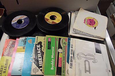 Lot of 77 Various Rock & RnB 45rpm Vinyls Full Artist List in Desc. 021913JDEDB