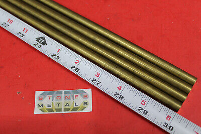 4 Pieces 38 C360 Brass Solid Round Rod 30 Long New Lathe Bar Stock .375