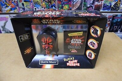 (Hasbro Star Wars Episode I Darth Maul Rubik's Cube Puzzle Special Edition 1995)
